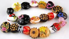 Lampwork Glass Beads Handmade Chocolates Variety Pieces Loose Spacer Craft