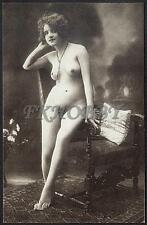 AK Postcard Erotic Erotik Nude Nudo d'epoca Sexy Pin-Up Retro Risque Vintage .30