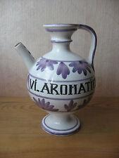 Ancien pot pichet à pharmacie Vinum aromaticum vin aromatique médecine médecin