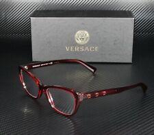 VERSACE VE3249 388 Transparent Red Demo Lens 52 mm Women's Eyeglasses