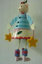 CHRISTMAS TEDDY BEAR LEGS ON BACKWARDS GISELA GRAHAM