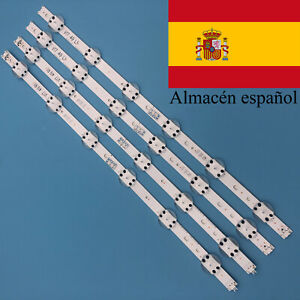 "KIT 4pcs 49 ""TV LED Strip para LG 49UV340C 49UJ6565 49UJ651V 49UJ670V LC490DGG"