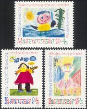Hungary 1992 Youth Stamps/Children's Art/Painting/Sun/Flowers/Costumes 3v n45431