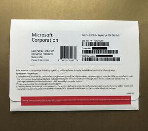 Windows 7 Pro Professional SP1 X64 Bit DVD and Product Key & laptop