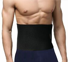 Tummy Tuck Comfortable Belt Waist Trimmer Slimming Home System Weight Loss Black
