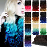 "20""-22"" One Piece 5 Clip in Hair Extensions Like Human synthetic Ombre Curly"