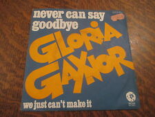 45 tours gloria gaynor never can say goodbye