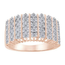 0.01 Cttw Round Cut Diamond Accent Dom Ring 14K Rose Gold Over