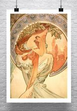 Poetry Alphonse Mucha Art Nouveau Fine Art Rolled Canvas Giclee Print 24x32 in.