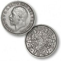 1920 TO 1936 GEORGE V LUCKY WEDDING/ BIRTHDAY SILVER SIXPENCES - CHOICE OF DATE