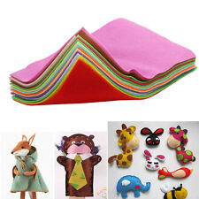 15PCS Rainbow Colorful Felt Sheets DIY Craft Polyester Fabric Soft 20x30cm