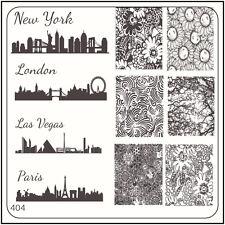 MoYou Nail Fashion Stamping Nail Art Image Plate 404 Vintage Style Major Cities