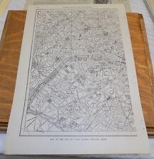 1912 Collier's City Map////PARIS, FRANCE (Western Half)