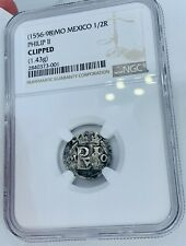 1556-1598 Spanish Silver 1/2 Real - MO Mexico - Philip II - NGC Certified