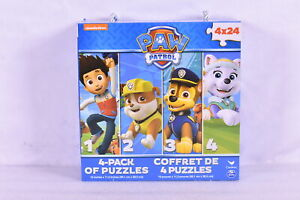 """Nickelodeon Paw Patrol 4 Pack of 24 Piece Puzzles, 15 x 11.2"""""""
