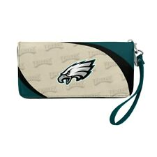Philadelphia Eagles Ladies Women's Curved Zipped Wallet Organizer Shell NWT