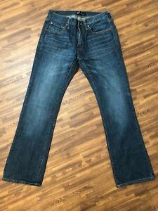 Gap Men's Blue 100% Cotton Boot Straight Leg Jeans Size 31x32
