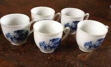 Vintage Delft Blauw porcelain teacups