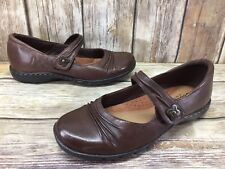 Cobb Hill Brown Leather Mary Janes Women's sz 6.5 M