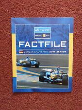 Esprit d'équipe RENAULT F1 TEAM Factfile Round 12 allemand 2006 tous les pilotes Info Alon