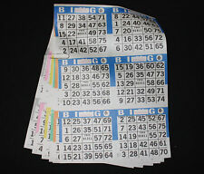 BINGO PAPER Cards Kit, 6 on 6 up, Blue rotation 10 packs FREE SHIP