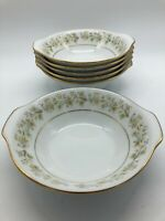 Noritake ANDORRA Lugged Cereal Soup Bowls Lot of 6 Handled 2182