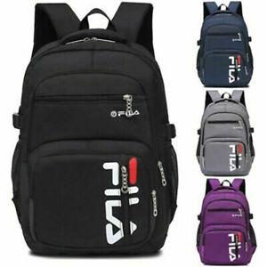 FILA School Backpack Laptop Bag Large Waterproof Rucksack Fishing Sports Travel