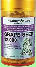 Healthy Care Grape Seed Extract 12000mg 300 Capsules (Australia Import)