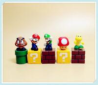 "lot of 5 Super Mario Bros Luigi Yoshi Figure Set 2"""