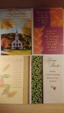 Set of 4 Assorted Basic w// Envelopes General//Basic Theme Thanksgiving Cards