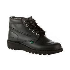 Kickers Kick Hi High Women Ladies Black Back To School Boots