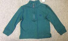 Chaps Boys 1/4 Zip Green Cotton Shirt - Size 2/2T - NEW