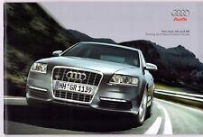 Audi A6 & S6 Saloon Avant 2007 UK Market Sales Brochure SE S Line Le Mans