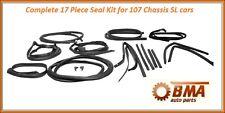 W107 Complete 17 Piece Body Seal Kit  Door,Top,Trunk,Pillars  380SL 450SL 560SL