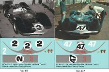 1:24 Decals for McLaren-Elva Mk.1A - SEE TEXT 2 Versions