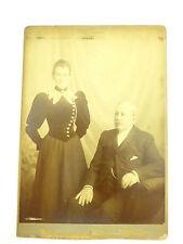 1800s Victorian Cabinet Card Portrait Photograph Victorian Couple P Spurge Bath