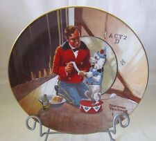 """Norman Rockwell Collector's Plate While the Audience Wait"""" Limited Edition Plate"""