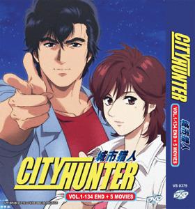 ANIME DVD City Hunter Complete TV Series Vol.1-134 End + 5 Movie + Free Ship