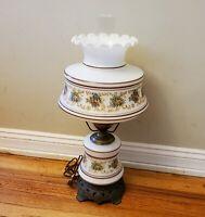Vintage QUOIZEL Table Parlor 3 way Lamp Light 1973 #1961 4⅛ Hurricane
