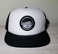 17507c7124c NEW Vans Triple Crown Of Surfing Hawaii Trucker Snapback Black White Cap Hat