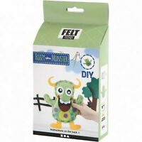 Fuzzy The MONSTER, Mostri in feltro da cucire - diy - step by step