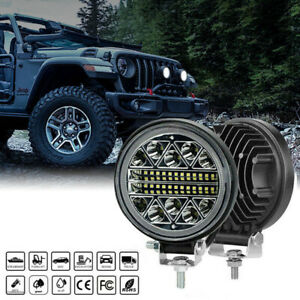 "2X 4""inch 102W LED Work Light Bar 4WD Off Road Boat SPOT Flood Driving Fog Lamp"