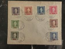 1918 Austria Unaddressed Cover Overprinted stamps KUK Feldpost