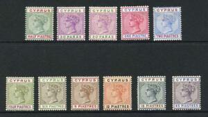 Cyprus SG40/49 1894 Colour Change set of 10 M/M (2pi no gum) Cat 250 pounds