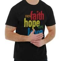 Faith Hope Love Christian Religious Jesus Christ Gift T Shirt