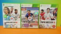 FIFA Soccer 09, 11, 13 2011 2013 2009 -  Microsoft XBOX 360 Game Lot Works