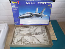 30.09.18.8 MiG-31 foxhound maquette model kit REVELL 1/72 manque autocollants
