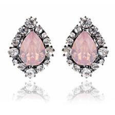 1 Pair Elegant Women Crystal Rhinestone Dangle Ear Stud Fashion Earrings Jewelry