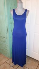 COBALT BLUE COLORED, KLUTCH, SLEEVELESS, STRETCHY, MAXI DRESS, SIZE MEDIUM