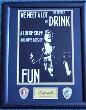 Bon Scott AC/DC 'Famous Quotes' Framed Print & Plectrum Display #2